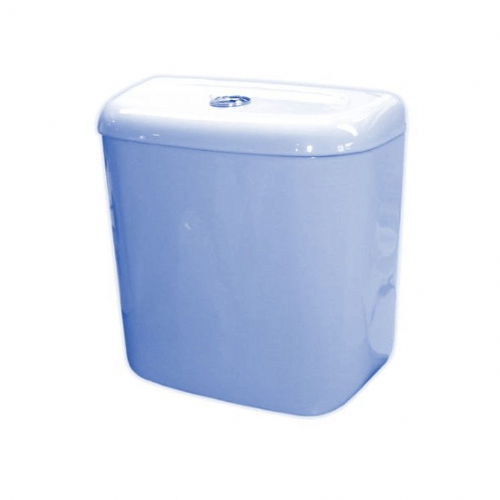 Close Coupled Ceramic Cistern, Push Button Style - Various Colours